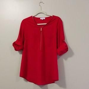 Calvin Klein | Red Dress Top